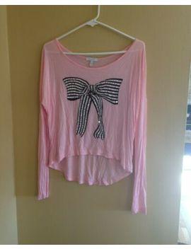 Pink Long Sleeve Bow Blouse by D E Li A*S