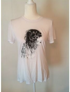 Taylor Swift Profile Pic White Tee, High Low Hem, Reputation Tour, Size M by Taylor Swift