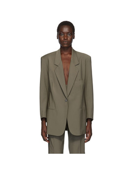 Taupe Boy Scout Blazer by Christopher Esber