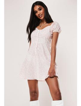 Pink Daisy Print Milkmaid A Line Dress by Missguided