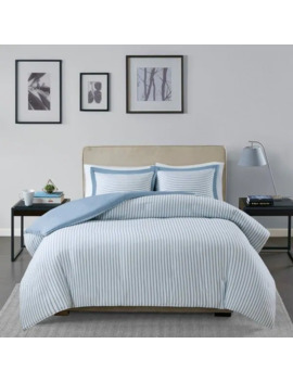 Madison Park Essentials Braydon Blue Reversible Stripe Duvet Cover 3 by Madison Park Essential