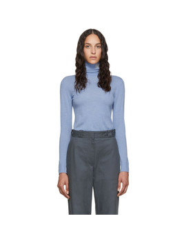 Blue Anagram Turtleneck Sweater by Loewe