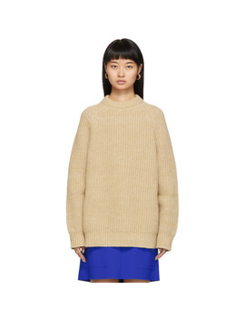 Brown Crewneck Long Sleeve Sweater by Marni