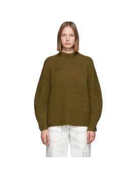 Green Oversized Dropped Shoulder Sweater by 3.1 Phillip Lim