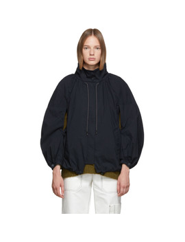 Navy Oversized Front Zip Jacket by 3.1 Phillip Lim