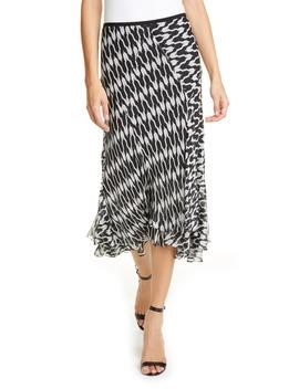 Debra Houndstooth Silk Blend Skirt by Dvf