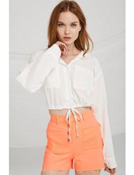 Hanna Hoodie Crop Shirt by Storets
