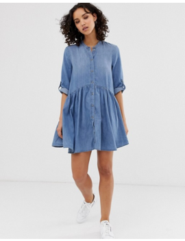 Only Denim Smock Mini Dress by Only