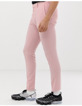 Asos Design Super Skinny Smart Pants In Rose Pink by Asos Design