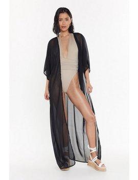 Ms Sheer Maxi Beach Kimono by Nasty Gal