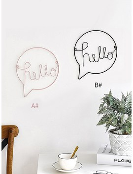 Letter Design Iron Wall Decor 1pc by Romwe