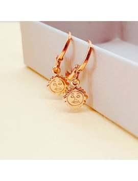 Tarot Gold Sun Hoop Earrings by Etsy