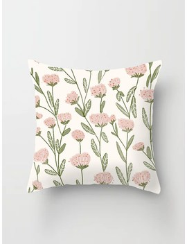 Floral Pattern Print Cushion Cover by Romwe