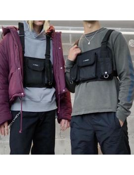 Men Women Fashion Tactical Harness Chest Rig Bag Hip Hop Canvas Front Fanny Pack by Does Not Apply