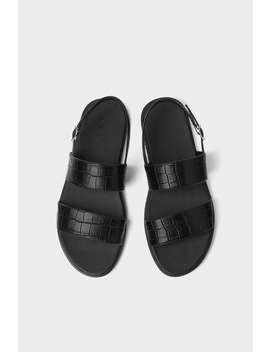 Embossed Strappy Sandals Shoes Man Shoes & Bags by Zara