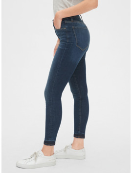 High Rise True Skinny Ankle Jeans In Sculpt With Secret Smoothing Pockets by Gap