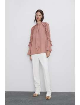 Ruffled Flowy Blouse View All Shirts by Zara