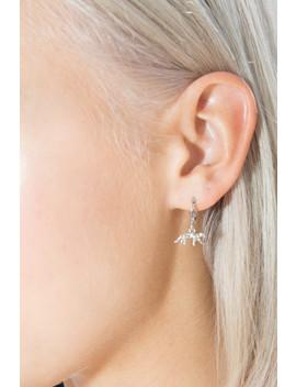 Silver Cheetah Hoop Earrings by Brandy Melville