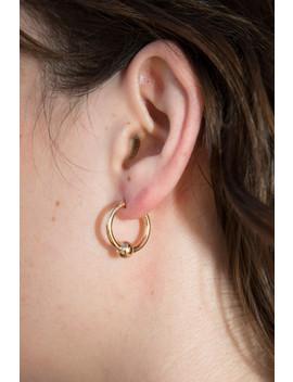 Gold Faux Captive Hoop Earring by Brandy Melville