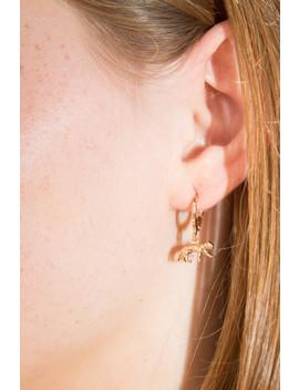 Gold Cheetah Hoop Earrings by Brandy Melville