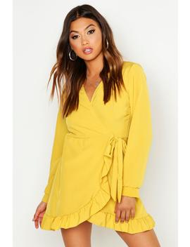 V Neck Tiered Smock Dress by Boohoo