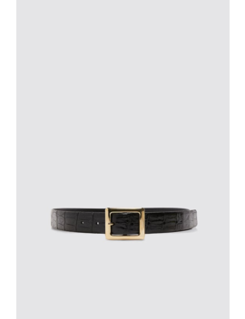 Embossed Leather Belt View All Accessories Woman by Zara