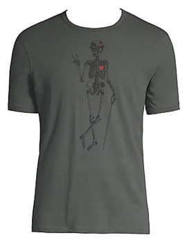 Skeleton Peace Graphic Cotton Tee by John Varvatos