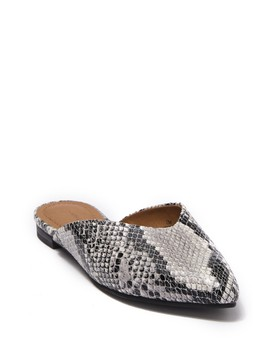Scarlett Snake Print Pointed Toe Mule by 14th & Union