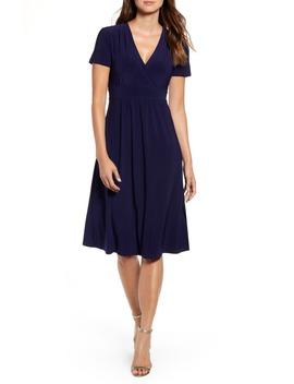 Matte Jersey Fit & Flare Dress by Anne Klein