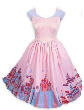 M Size Medium Disney Parks Dress Shop Pink Fantasyland Dress Women Silk New by Disney Parks Her Universe