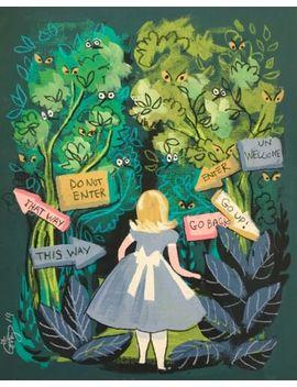 El Gato Gomez Retro Alice In Wonderland Tulgey Wood Retro Disney Illustration by Ebay Seller
