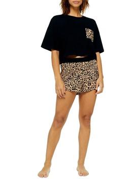 Boxy Leopard Print Pajamas by Topshop