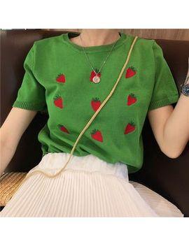 Melon Juice   Fruit Print Short Sleeve T Shirt by Melon Juice