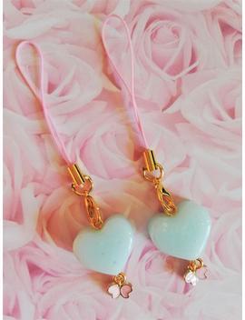 Pastel Blue Resin Heart Phone Charm   Kawaii Pastel Planner Charm   Cute Resin Heart Charm by Etsy
