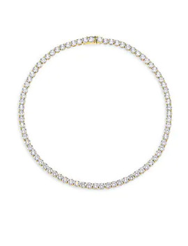 18 K Goldplated Sterling Silver All Around Necklace by Adriana Orsini
