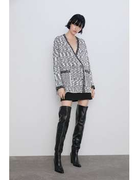 Textured Weave Knit Cardigan  New Inwoman by Zara