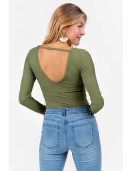 Monroe Lace Trim Bodysuit by Francesca's