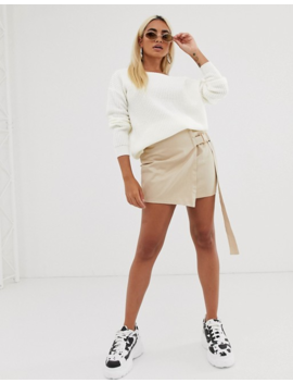 Missguided Petite Off Shoulder Sweater In White by Missguided