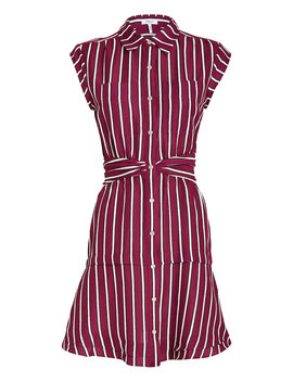 Striped Twist Waist Shirt Dress by Derek Lam 10 Crosby