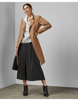 Long Belted Wrap Coat by Ted Baker