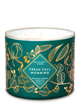 Fresh Fall Morning   3 Wick Candle    by Bath & Body Works