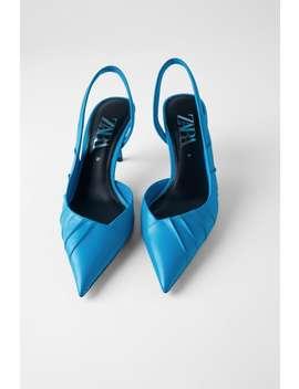 Asymmetrical Leather Slide Heels  Shoeswoman by Zara