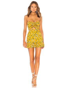 Anna Dress In Yellow Dolly Floral by Tularosa