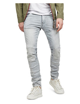 Men's 5620 3 D Gray Distressed Skinny Jeans, Created For Macy's by General