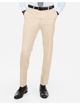 Slim Khaki Oxford Cotton Suit Pant by Express