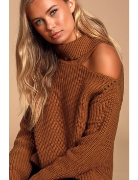 Sepulveda Rust Brown Knit Turtleneck Sweater by Astr The Label