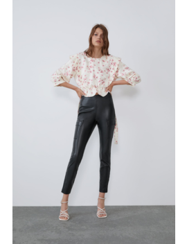 Printed Top With Bow View All Shirts Trf by Zara