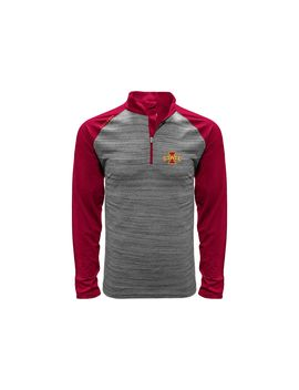 Levelwear Men's Iowa State Cyclones Grey Vandal Quarter Zip Shirt by Levelwear