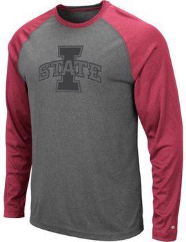 Colosseum Men's Iowa State Cyclones Grey Rad Tad Raglan Long Sleeve T Shirt by Colosseum