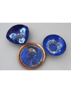 Vintage Copper Bowls, Enamel Copper, 70s, Set Of 3, Birthday Gift, Housewarming by Etsy
